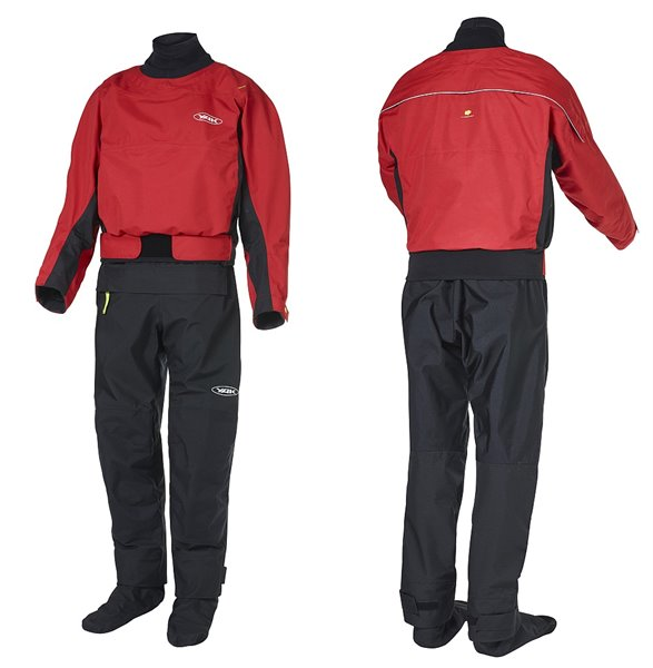 HORIZON Drysuit, rot-schwarz