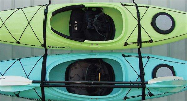 WALL HANGER, strap set 2 Kayak
